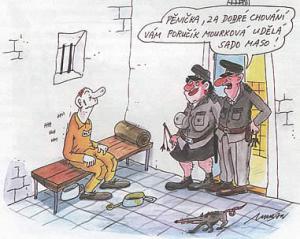 Poručík Mourková dělá sado maso