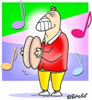 Kohout který se živí muzikou