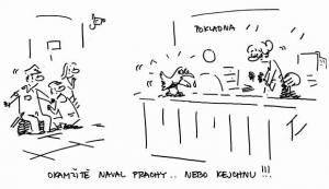 Vyhrožování u pokladny
