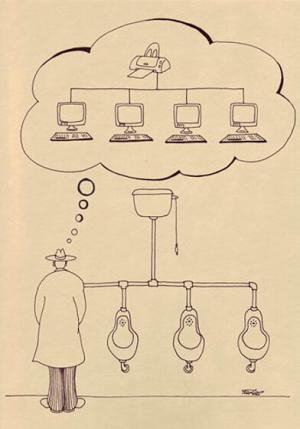 Nad čím přemýšlí muži na záchodě