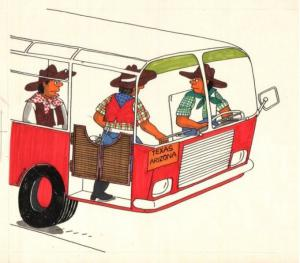 Jak vypadá autobus v Texasu