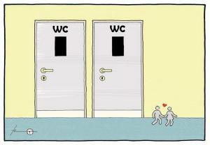 Stejný záchod pro dva