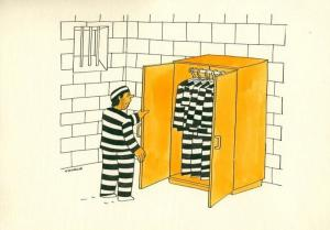 Vězeň a jeho oblečení na každý den
