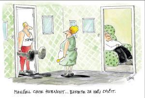 Manžel chce razantně zhubnout