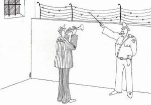 Pan policajt učí hudební nauku