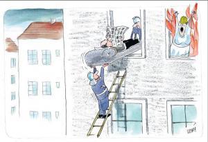 Koho zachráníš z hořící budovy?