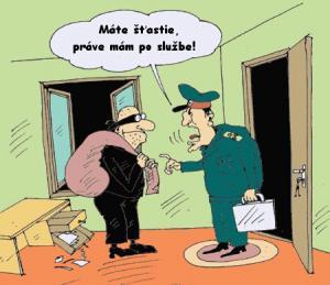 Pan policajt, který je už po službě