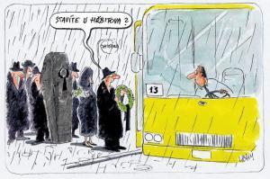Na hřbitov jedině autobusem