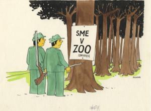 Tady jsem v zoologické!