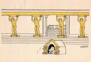 Jak by vypadal psí vs. lidský vstup do chrámu?