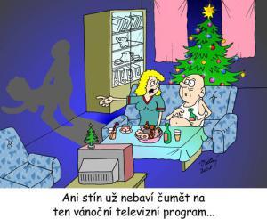Ani stín už nebaví čumět na Vánoce