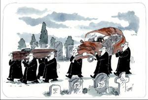 Jak to vypadá na pohřbu