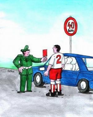 Když je za volantem fotbalista