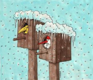 Sněhulák, kterému je zima