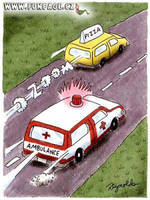 Když jede pizza vs. ambulance