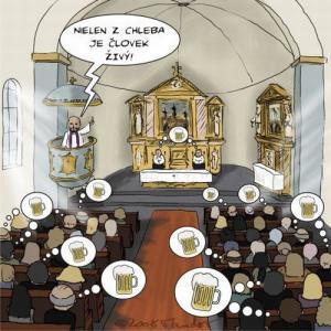 Když jdou lidé do kostela