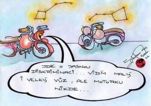Když na obloze hledáš souhvězdí motorky