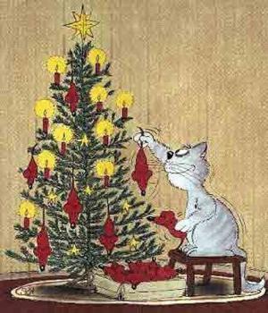 Jak vypadá kočky vánoční stromeček?