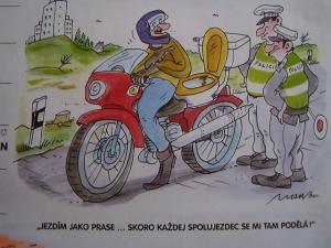 Když jezdíš na motorce jako prase