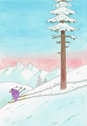 Když si lyžař umí poradit