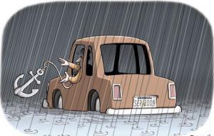 Když se vydáš autem na cestu zrovna v tom nehorším počasí