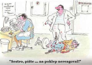 Když doktor prohlíží pacienta