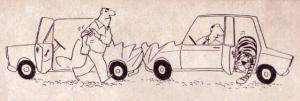 Když sebou vozíš v autě tygra, jen tak pro případ