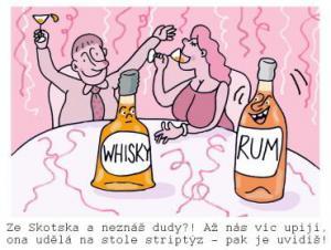Když se chlastá Whisky s rumem