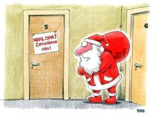 Santa Claus přišel rozdávat dárečky