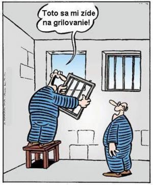 Vězeň utíká z vězení