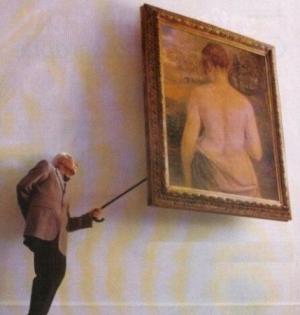Zvědavý milovník obrazů