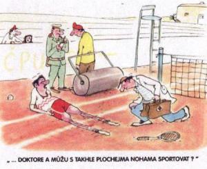 Když sportovci přejedou nohy válcem