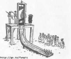 Jak si udělat z popravy legrační hru?