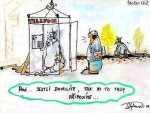 Telefonní budka bez připojení