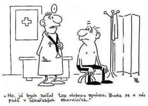 Lékař nese pacientovi dobré zprávy