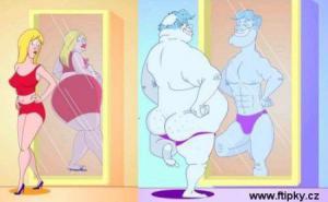 Jak se vidí v zrcadle žena vs. muž