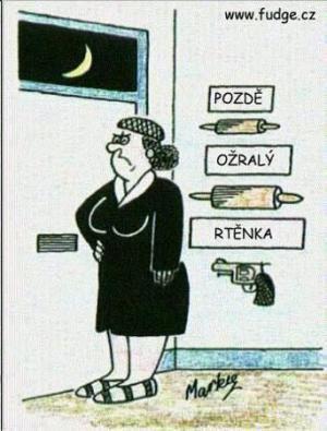 Co se stane, když přijde manžel pozdě vs. ožralý vs...