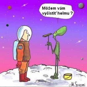 Kosmonaut na měsíci a marťanem