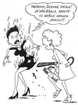 Když si šaty zašiješ horkou jehlou