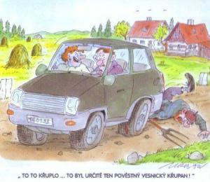 Když jedeš autem z vesnice