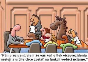 Prezidentův kůň a jeho místo v radě
