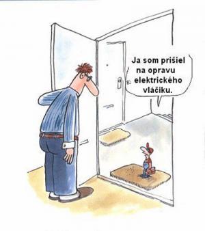 Přišel jsem na opravu elektrického vláčku