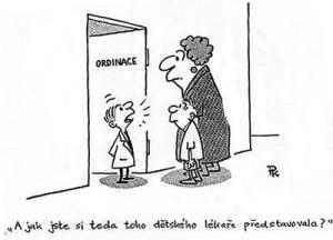 V ordinaci je malý dětský lékař