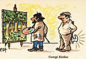Malíř malující stromy vs. dřevorubec