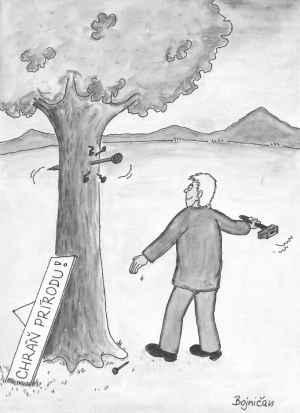 Když chráníš přírodu ubližováním stromu