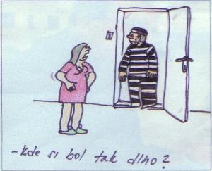 Vězeň se vrátil domů z vězení