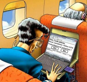 Elektronika v letadle