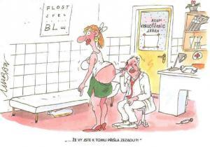 Pan lékař kontroluje ženské pozadí