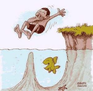 Když skáčeš do vody a nevíš, co je pod hladinou