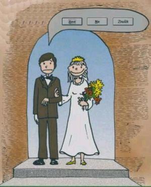 Když stojí muž se ženou u oltáře